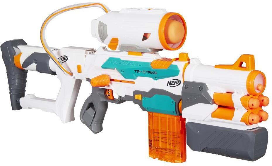 Hasbro B5577 NERF Blaster N-Strike Elite Modulus Tri-Strike Spielzeugblaster