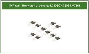 10 Pezzi - Regolatori di corrente L7805CV 7805 LM7805 - Italia - 10 Pezzi - Regolatori di corrente L7805CV 7805 LM7805 - Italia