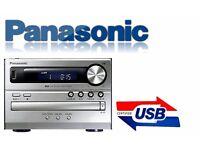 stuning PANASONIC micro Hi-Fi. AM/FM Tuner + USB + CD + MP3 + minijack AUX-IN. very reliable VGC