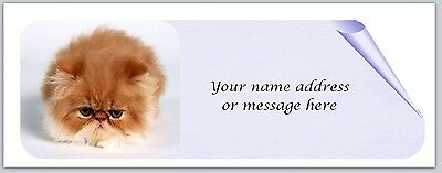 Personalized Address Labels Cute Cat K 123