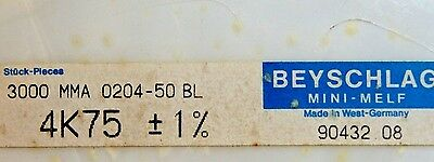 1000pcs Resistor 4.75k Ohm Minimelf 50ppm 1 0.4w Mma020450bl 4k75 Beyschlag
