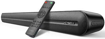 Heymell Soundbar,Sound bar for TV , 6 PCS Speakers& Dual-Amplifer DSP