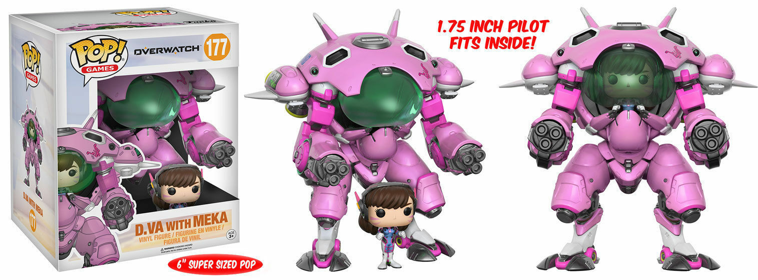 Funko Pop Game Overwatch D.VA with MEKA Action Vinyl Figure