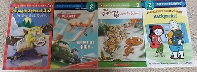 Lot of 4 I Can Read Books Level 2 airplane backpack magic school bus