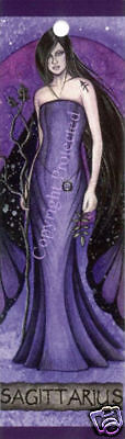 Sagittarius Bookmark Fairy Zodiac Jessica Galbreth NEW Faery Sign Fantasy Art
