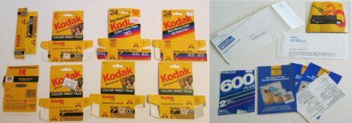 Vintage 1980s Polaroid & Kodak Film Camera Photography Paperwork Boxes Ephemera
