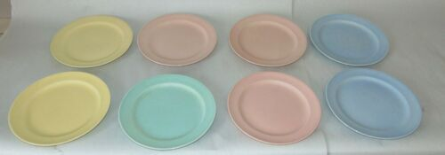 EIGHT Vintage LURAY PASTEL Dessert Plates LU RAY