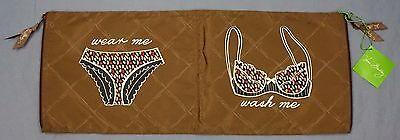 NWT $40 Vera Bradley Wash & Wear Organizer Bag Toast Brown L