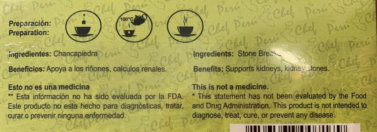 Chanca Piedra Hierba Te (Stone Braker Herbs Tea) 3 Bags 5