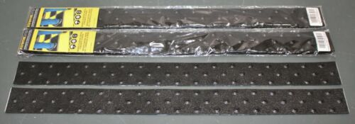 "(6) Rust-Oleum XtremeGrip Peel & Stick Traction Strip 2STXBK02, 2"" x 24"" Studded"