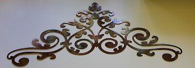 Ornamental Scroll (Ornamental Scroll Copper/Bronze Plated Metal Wall Decor 24 x 9 3/4 )