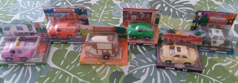 """Lot of 6 Vintage """"The Chevron Cars"""" Toy Collectibles NIP"""