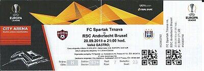 Ticket: Spartak Trnava FC - Anderlecht UEFA Europa League (20-9-18)