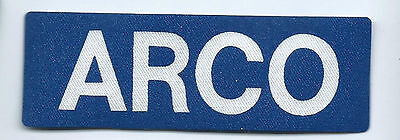 ARCO (Atlantic Richfield Co) employee/driver patch 1-1/2 X 4-1/2 #2404
