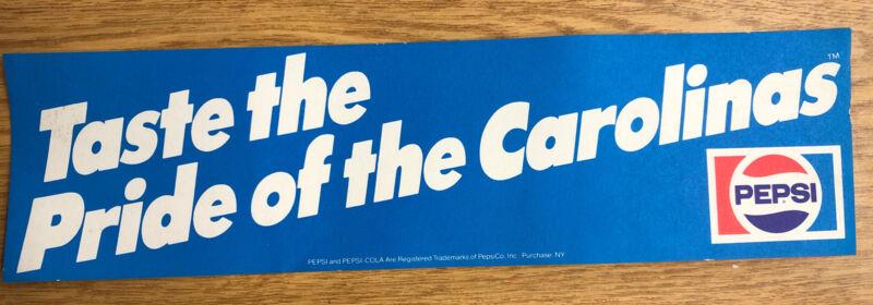 Vintage Pepsi Bumper Sticker Taste The Pride Of The Carolinas