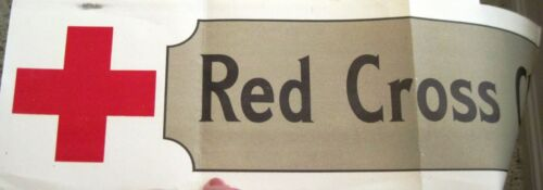 """Vintage """"Red Cross"""" Christmas Banner """"Roll Call""""   *"""