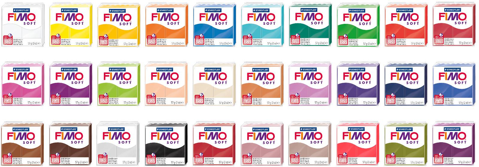 [2,96€ / 100 g] FIMO Soft Modelliermasse 57 g verschiedene Farben Knete AUSWAHL