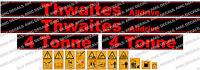 Thwaites Alldrive 4 Tonnellata Set Di Adesivi Decalcomanie Dumper -  - ebay.it