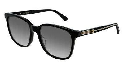 NEW Gucci GG 0376S Sunglasses 001 Black 100% AUTHENTIC
