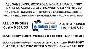 Unlock Your Phones - Starting At $1.88 - HTC-LG-Samsung-IPhone-Sony-Blackberry-Nokia-Motorola-ZTE-Huawei