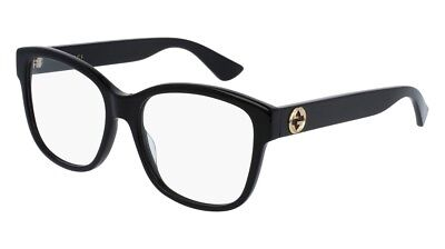 NEW Gucci Urban GG 0038O Eyeglasses 001 Black 100% AUTHENTIC
