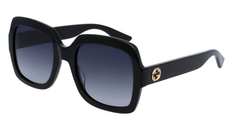 NEW Gucci Urban GG 0036S Sunglasses 001 Black 100% AUTHENTIC