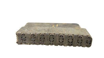Antique Bunta Stamped Wood Printing Fabric Textile Batik Rajasthan India X52