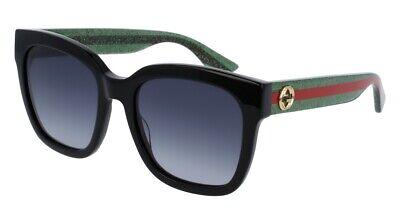 NEW Gucci Urban GG 0034S Sunglasses 002 Black 100% AUTHENTIC