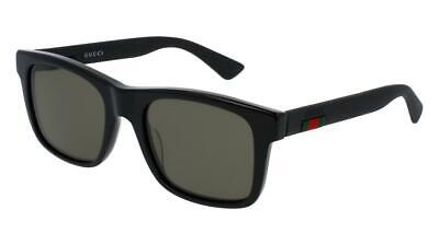 Gucci GG0008S Sunglasses 002 Black / Grey Polarized Lens (Gucci Sunglasses Lenses)