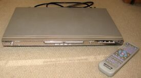 DVD Player slimline with remote. Silver Hardly used Excellent condition