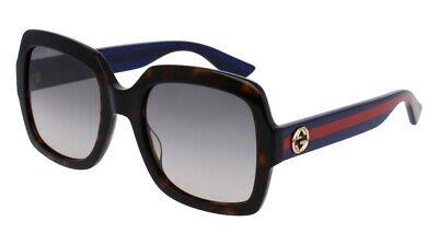 NEW Gucci Urban GG 0036S Sunglasses 004 Havana 100% (Gucci Butterfly Sunglasses)