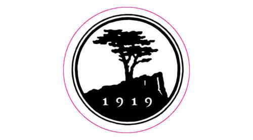 """Pebble Beach Golf Club Logo Golf Decal - 2.25"""" Circle"""