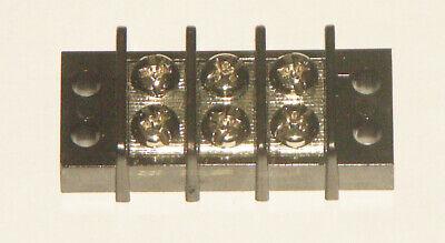 3 Position 20 Amp Dual Row Terminal Block