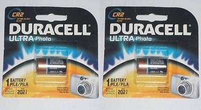 2x NEW DURACELL ULTRA Photo Lithium Photo Battery CR2 3V Best before