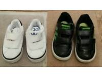 Boys Adidas trainers child size 4 & 5.5