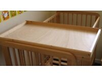 Wooden Cot Top Changer - Very Good Condition
