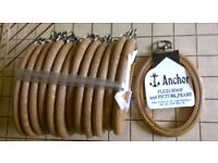 Pack of 12 oval Anchor Flexi Hoops each 3 1/2 inches x 2 1/2 inches.
