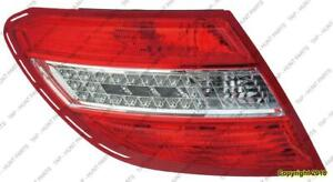 Tail Light Driver Side Led Withcurve Lighting High Quality Mercedes C-Class 2008-2011