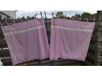 NEXT Girls Lined Bedroom/Nursery Curtains with Tiebacks