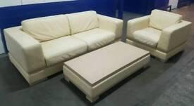 natuzzi cream living room set