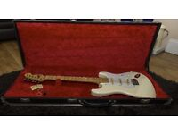 1988 Fender stratocaster - japanese - Olympic white maple board - trades welcome
