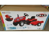 Falk Pedal Tractor And Trailer Ride on New Farm Master 720i AGE 2 TO 5 YRS