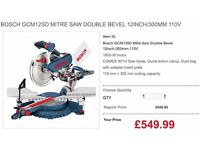 BOSCH GCM12SD MITRE SAW DOUBLE BEVEL 12INCH/300MM 110V
