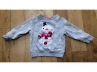 Next Girls Christmas jumper 2-3 years