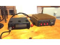Maycom EM-27 CB radio kit with power AMP, SWR meter and car magmount