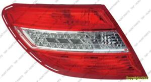Tail Lamp Driver Side Led Withcurve Lighting High Quality Mercedes C-Class 2008-2011