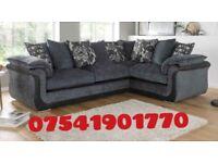 New adriana black and grey corner sofa** Free delivery**