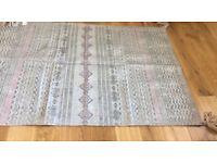 Metallic rug