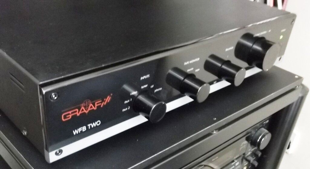 GRAAF iti WFB TWO valve Preamplifier, with 3-gain mm/mc phono, and mains isolated power supply.