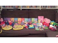 Collection of Peppa pig toys and books good condition